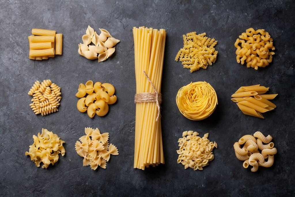 A Variety of Unique Pastas sold at Sansone Market